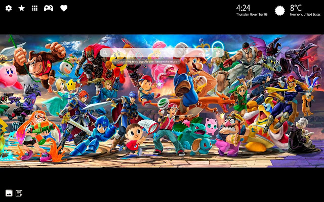 Super Smash Bros Wallpapers New Tab