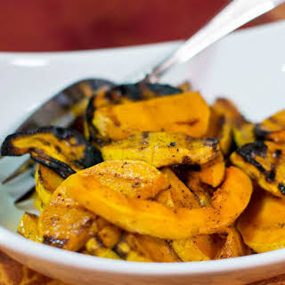 Grilled Butternut Squash with Honey Maple Glaze.