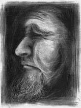Photo: Xerox Self-Portrait charcoal, 2008