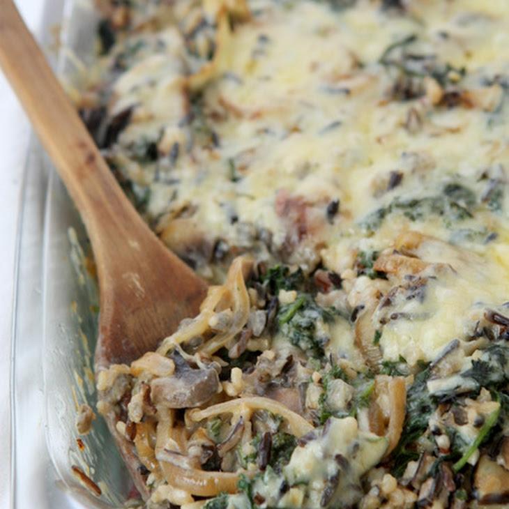 Mushroom Kale Wild Rice Casserole Recipe