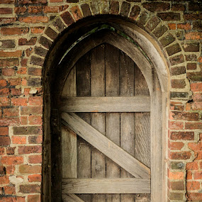 the door  by Kiril Kolev - Buildings & Architecture Architectural Detail ( old, wood, street, door, wall )