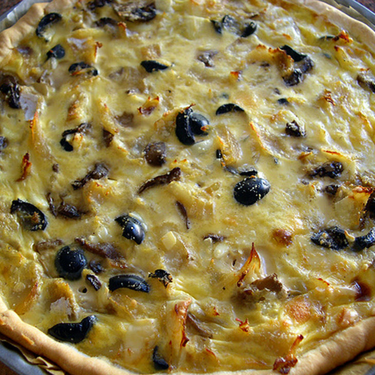 Savory Cod Pie with Cheese and Olives Recipe