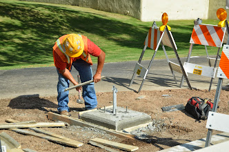 Photo: Foundation preparation for the Scottsdale Rotary Clock by Team Fishel
