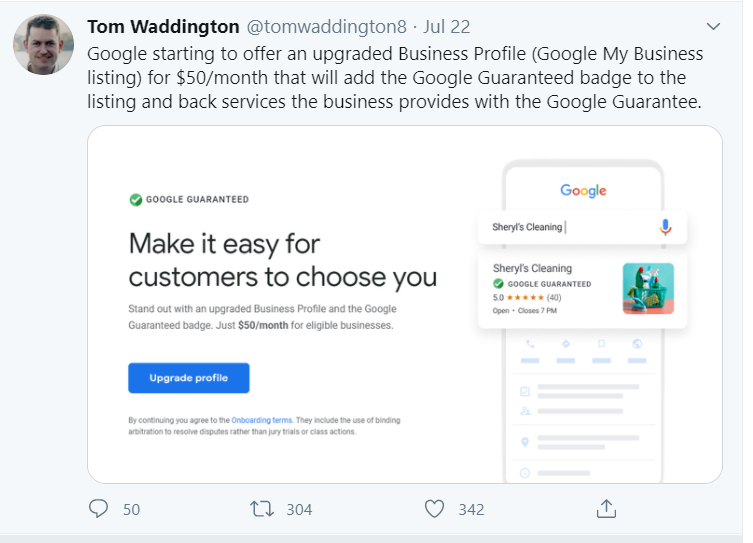 Google Guaranteed Badge changes the local search game