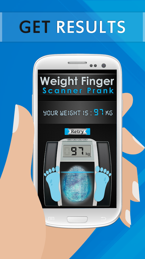 Weight Finger Scanner Prank- screenshot