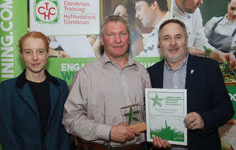 Award for Powys Recycling team