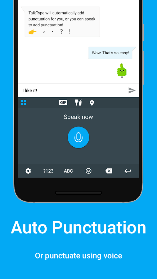 TalkType Voice Keyboard- screenshot
