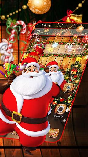 Cartoon Glitter Santa Claus Theme ss3