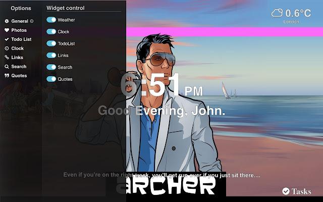 Archer theme tab