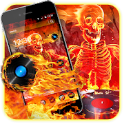 Flaming Skull DJ Theme APK
