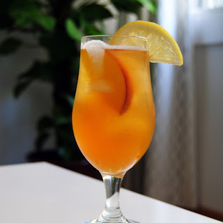 Fresh Peach & Basil Iced Tea