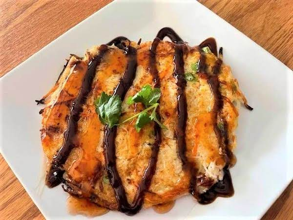 Rice Noodle Pancakes With Hoisin Sauce
