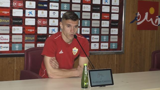 Nikola Maras en sala de prensa tras el entrenamiento.