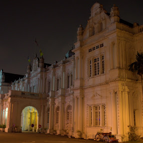 Building at Night  by Adam Ling - Buildings & Architecture Public & Historical ( building, government building, penang, night, landscape )