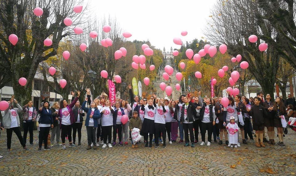 Caminhada solidária contra o cancro da mama uniu Lamego