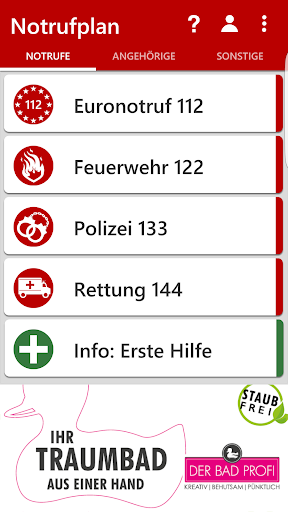 notrufplan screenshot 1
