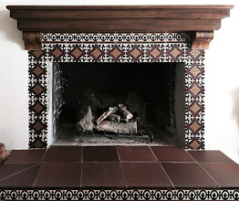 Photo: Tiled Fireplace Surround - By Malibu Tile Works -Private Residence - Glendale, CA