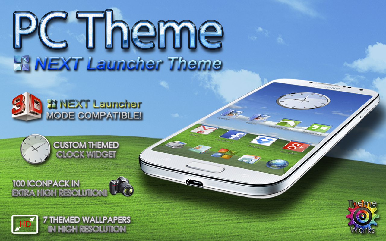 Next Launcher 3D Theme PC – скриншот