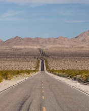 Photo: Open road in the Mojave Desert