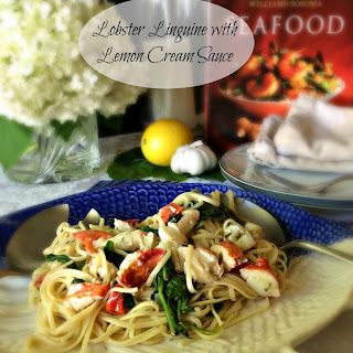 Lobster Linguine with Lemon Cream Sauce.