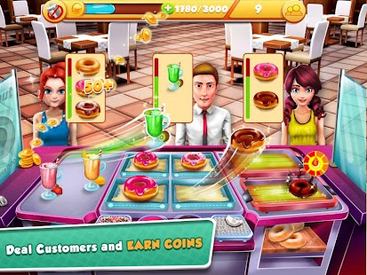 Crazy cooking kitchen chef mod apk for Kitchen queen mod apk