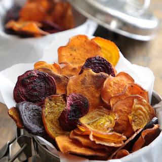 Oven Baked Rosemary Sea Salt Sweet Potato Chips