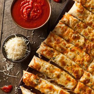 Quick and Easy Italian Garlic Breadsticks.