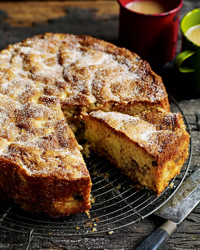 Chunky Apple, Raisin, Walnut And Cider Cake