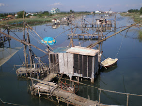 Photo: Is this Vietnam or Montenegro? Fish traps at Ulcinj