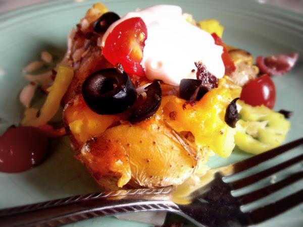 Loaded Smashed Salt Potatoes Recipe