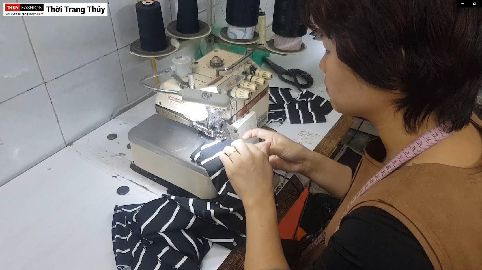 Video Hướng dẫn cách may áo thun nữ vải cotton thời trang thủy ở hải phòng 1