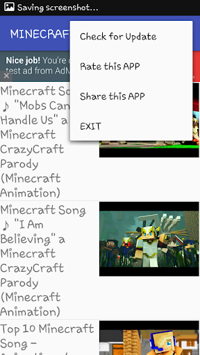 Minecraft Songs Video