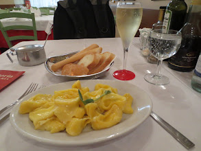 Photo: Lunch at Trattoria Anna Maria from Frommer's guidebook. Sage and butter sauce Tortellini
