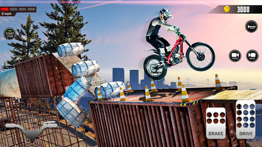 Impossible Mega Ramp Moto Bike Rider Stunts Racing screenshots 4
