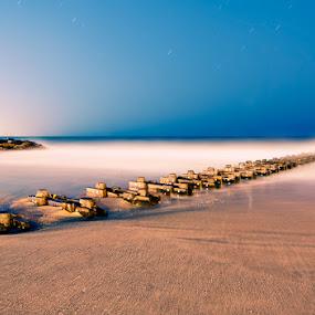 Beach at Dusk by Brandon Rechten - Landscapes Beaches ( long exposure, beach, dusk, night shot, evening )