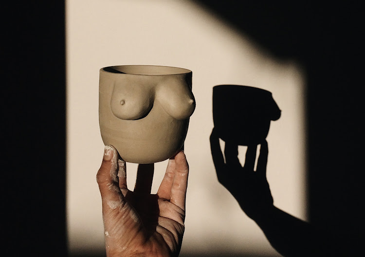 Farah Hernandez's ceramic breast cups.