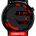 Watch Face: Cyber Black 360 - Wear OS Smartwatch icon