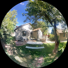 Photo: Fisheye Panoramic shot of the back of the house
