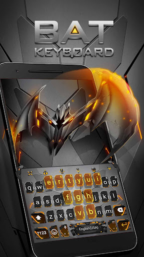 Neon Vampire Bat Hero Keyboard Theme for Android for PC