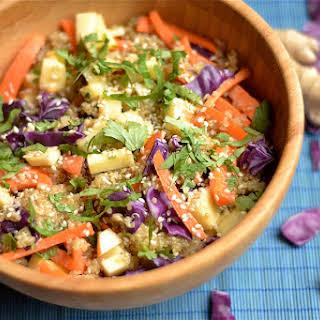 Carrot & Apple Asian Quinoa Salad.