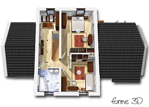 Kasjopea z garażem 1-st. A - Rzut piętra
