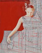 """Photo: """"IN TIRO""""  anno 2012 24x30 acrilico su carta applicata su tavola collezione privata © tutti i diritti riservati"""