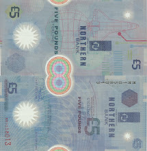Photo: US Space Shuttle, 5 British Pounds, Northern Bank (1999). This note is out of print, and is being taken out of circulation.