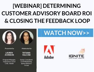 Webinar - Customer Advisory Board ROI with Adobe