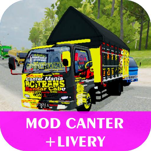 Mod Bussid Truck Canter (Baru + Livery) 2.0 screenshots 1
