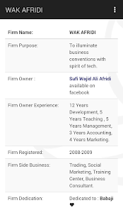 WAK AFRIDI : A BUSINESS VIGOR- screenshot thumbnail