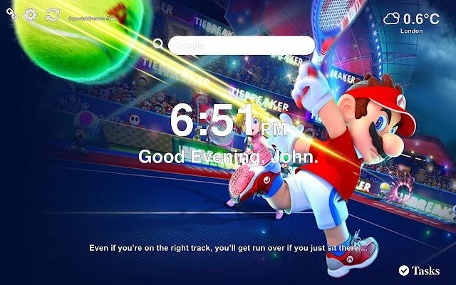 Mario Tennis Aces HD Wallpaper Tab