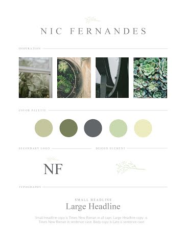 Fernandes Brand Board - Brand Board Template