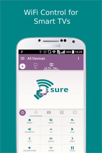 SURE Universal Remote for TV app (apk) free download for Android/PC/Windows screenshot