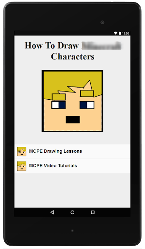 How To Draw MCPE Characters